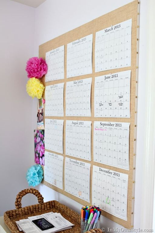 Diy Wall Calendar Business Side Of Blogging Inmyownstyle Diy