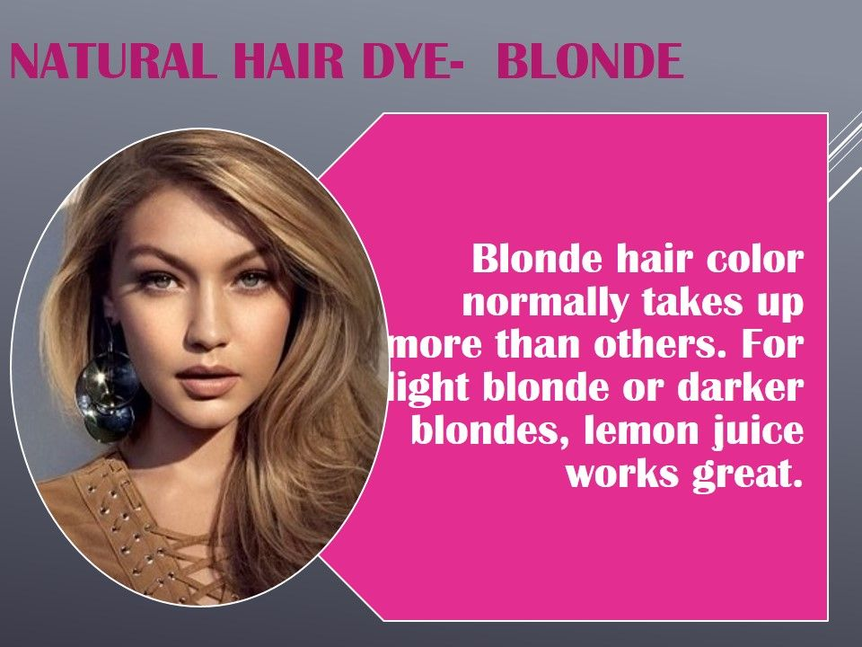 Unique And Easy Natural Hair Dye You Can Try Health And Beauty