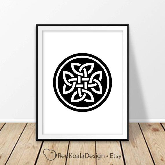 Celtic Wall Art celtic knot wall art irish print irish decor digital dowload st