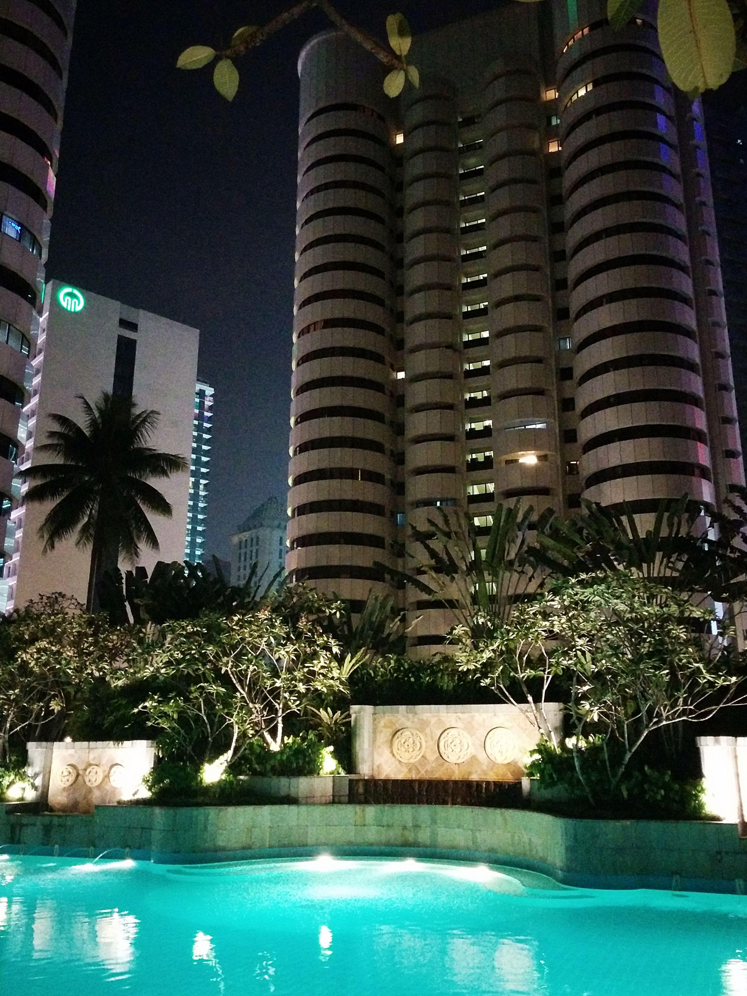 Pool View At The Shangri La Hotel In Kuala Lumpur Malaysia