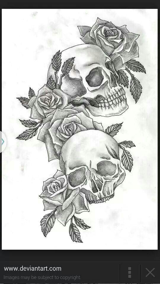 Drawing Rose Girl Skulls Roses Tattoo Tattoos Tattoos Skull Tattoos Tattoo Designs Skull Rose Tattoos Tattoo Design Drawings Sleeve Tattoos For Women