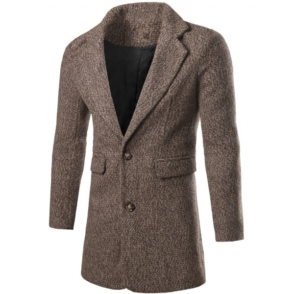 44.28$  Watch here - http://di9no.justgood.pw/go.php?t=198953004 - Single Breasted Lapel Collar Tweed Coat