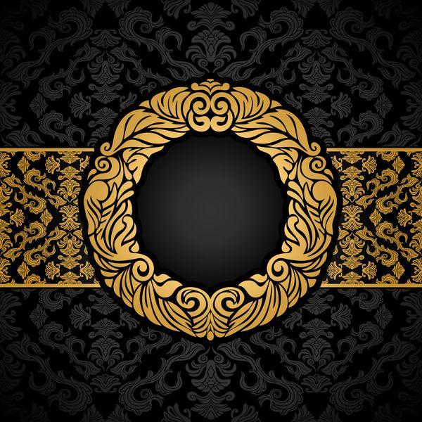 Luxury Black And Gold Vintage Frame Vector Vintage Frames Vector Vintage Frames Abstract Backgrounds