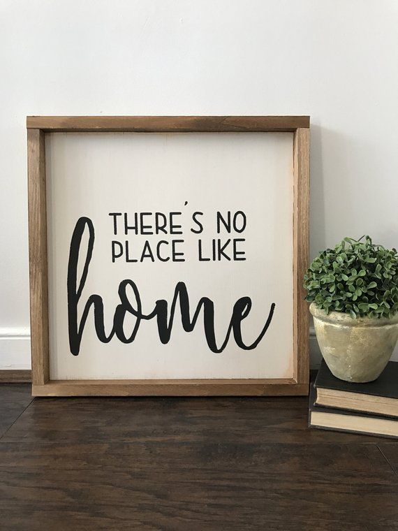 There S No Place Like Home Sign Decor De