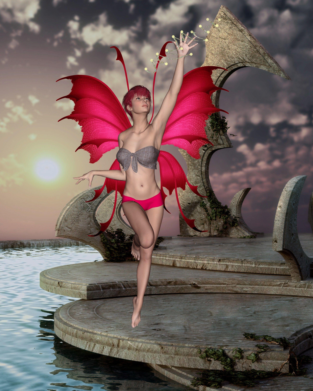 Giantess Tinkerbell regarding fairy's fantasy time | women femmes poser daz3d 3d art | pinterest