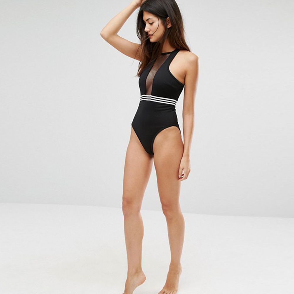 b0066a700ee83 Halter Top Swimsuits · $25.17 - Awesome New One Piece Swimsuit Mesh Padded  Beach Women Swimwear Sexy Mesh Backless Zipper