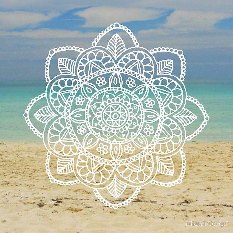 661e46456 Beach Mandala | Canvas Print in 2019 | Misty room ideas | Mandala ...