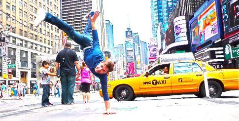 NYC upside down.