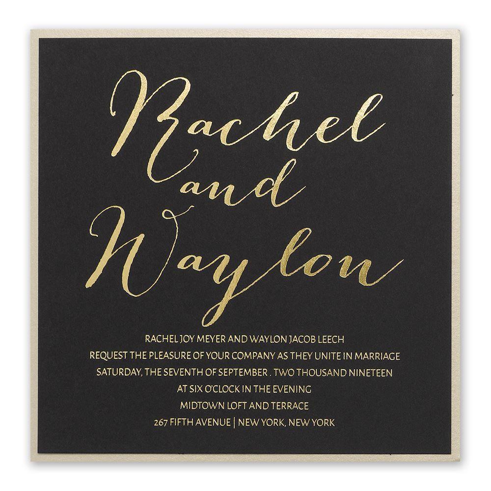 Wedding event background  Gold Signature  Foil Invitation