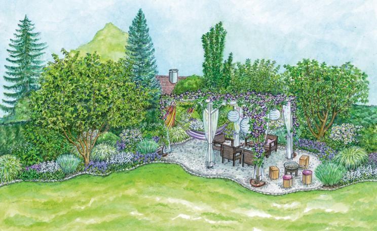 Gestaltungsideen für einen Sitzplatz im Blütenmeer - garten gestalten mediterran