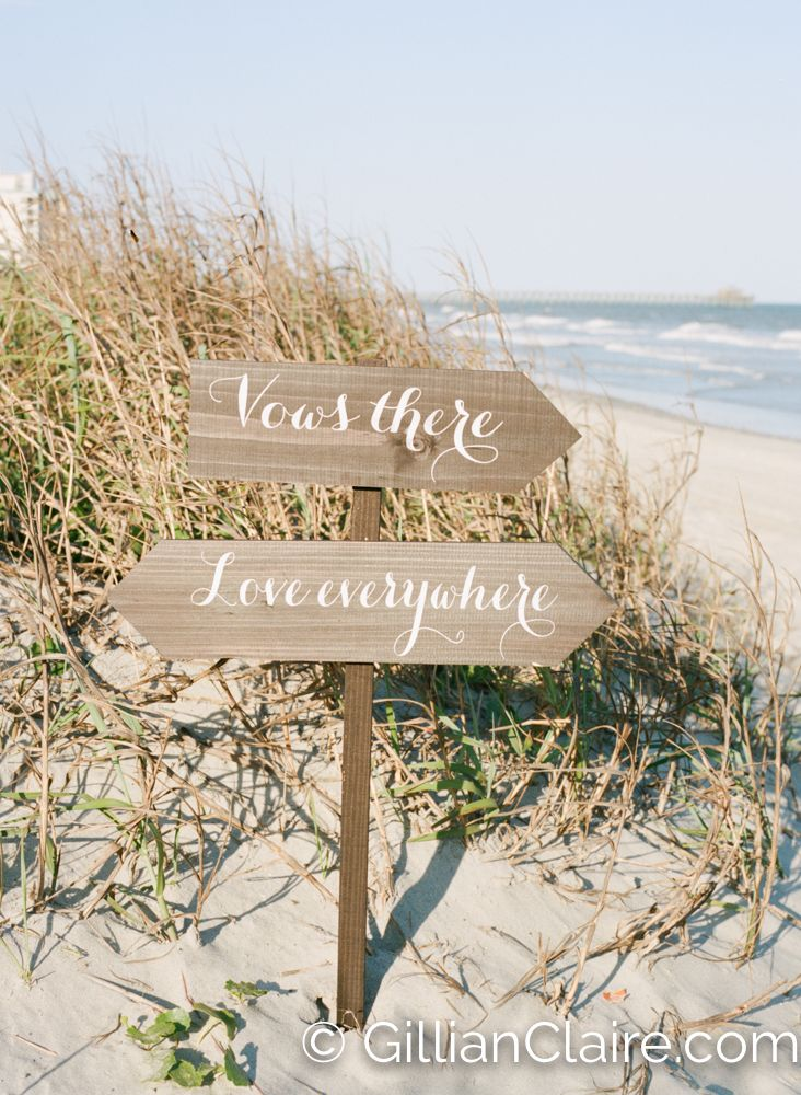Spencer + Robby | Beach House Wedding | Wedding Signs