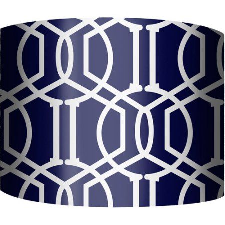 "Lamp Shades At Walmart Fair 12"" Drum Lamp Shade Trellis Navy  Walmart  Baby Brantly Design Ideas"