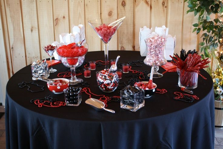 Red And Black Graduation Centerpieces Ideas Black Red And White