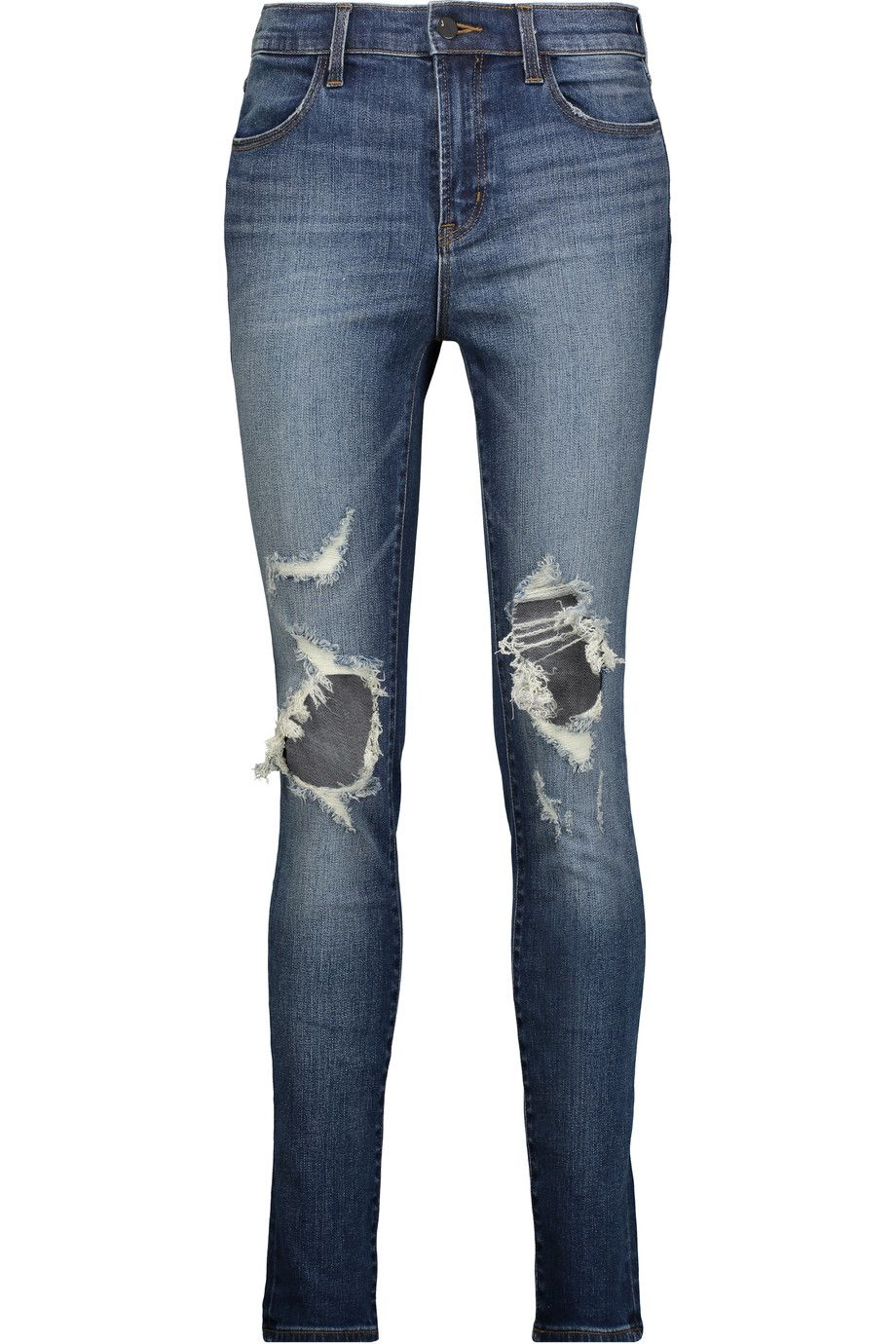 J brand maria distressed high rise skinny jeans