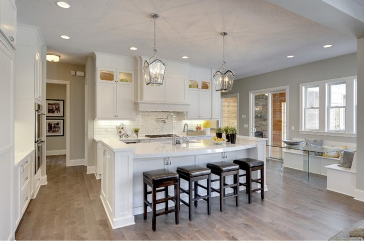 White Cabinets With Grey Brown Floors Southern Living Kitchen Kitchen Inspirations Brown Floors