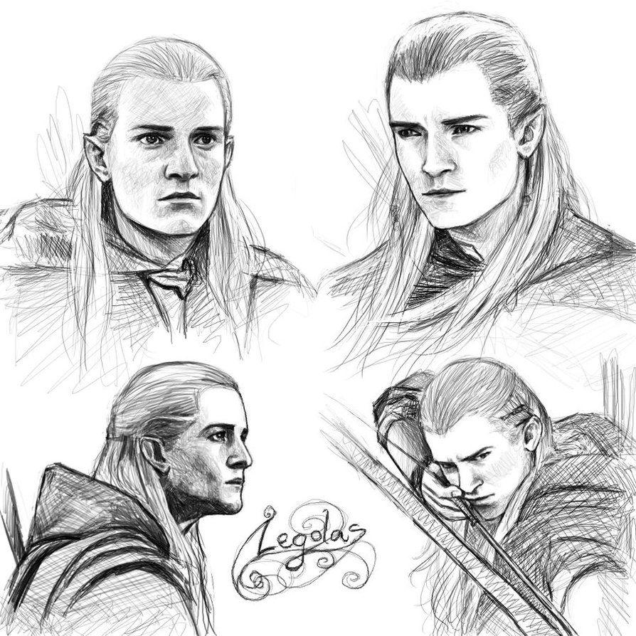Legolas sketches by ~Manweri on deviantART | Drawing | Pinterest ...