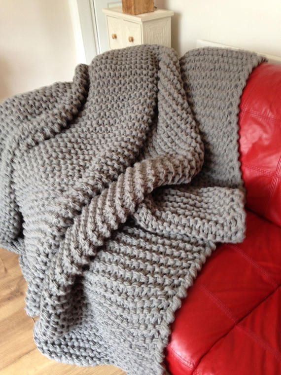Chunky knit Blanket Huge Knit Blanket Hand Knit Afghan | home ...
