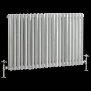 Radiateur Horizontal Style Fonte Blanc Windsor 60cm X 101cm X 6 8cm 1249 Watts Radiateur Design Radiateur Support Mural