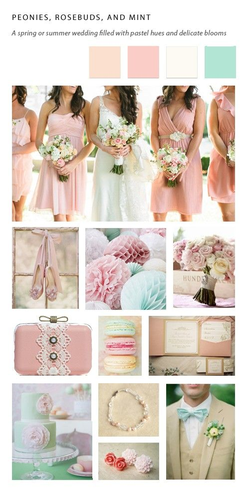 Love This Color Palette Wedding 2017 Pinterest Pastels