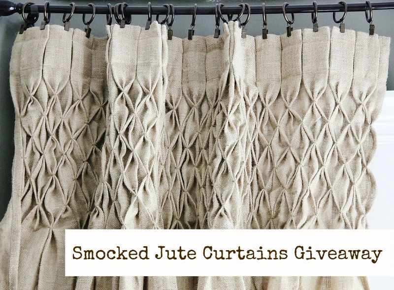 Burlap Curtain: How To Smock Curtains With