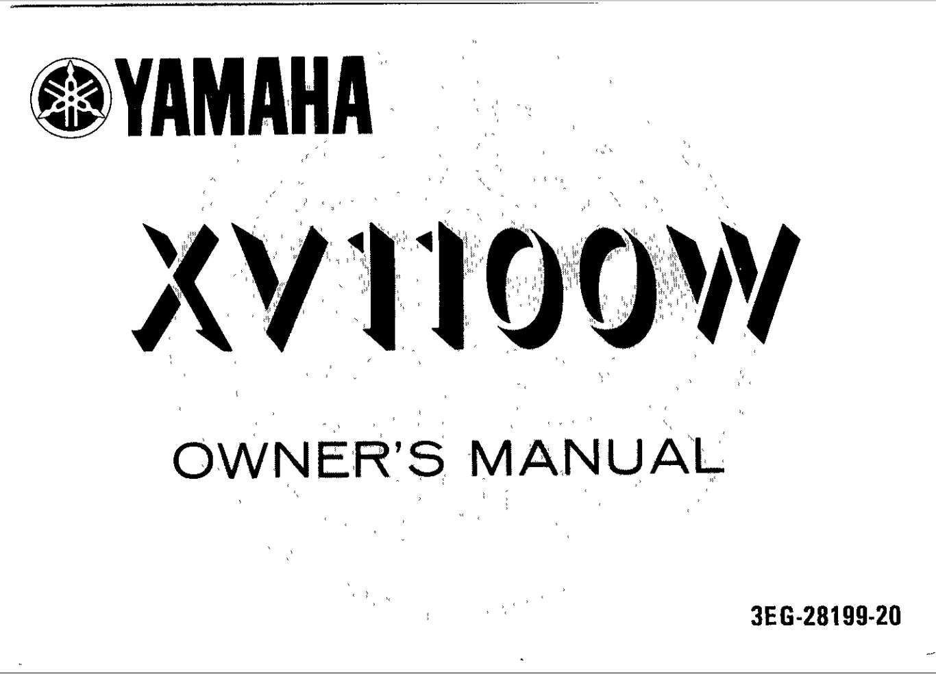 Yamaha Xv1000 W 1989 Owner S Manual Has Been Published On Procarmanuals Com Https Procarmanuals Com Yamaha Xv1000 W 1989 Owners Manual Owners Manuals Yamaha