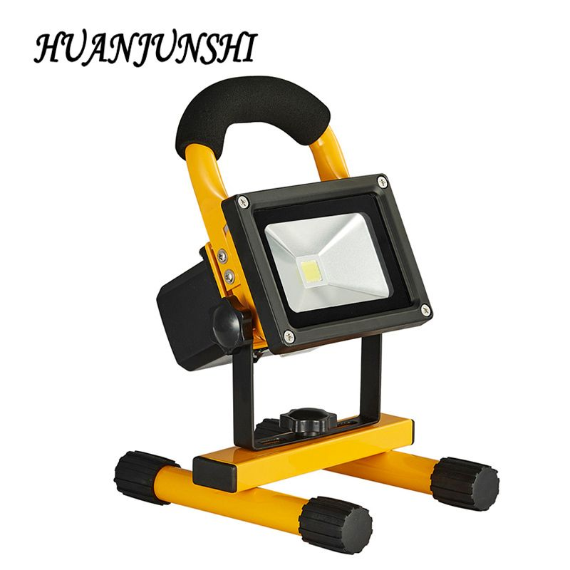 Flood Lights Dc12v 10w Rechargeable Led Flood Light Outdoor Camping Light With 18650 Lithium Battery Car Charger Waterproof Ip65 A Outdoor Lighting Recha