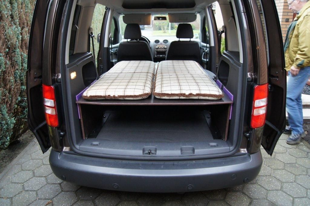 selbstbau bett f r vw caddy caddy umbau anregungen pinterest vw camping and. Black Bedroom Furniture Sets. Home Design Ideas