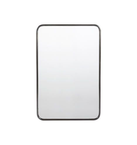 "Framed Bathroom Mirrors Bronze 20"" x 30"" metal framed mirror - rounded rectangle 