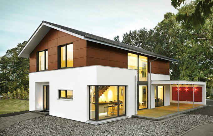 Fassade verkleidung elegante architektur mit satteldach von bittermann weiss holzhaus haus - Holzhaus bauhausstil ...