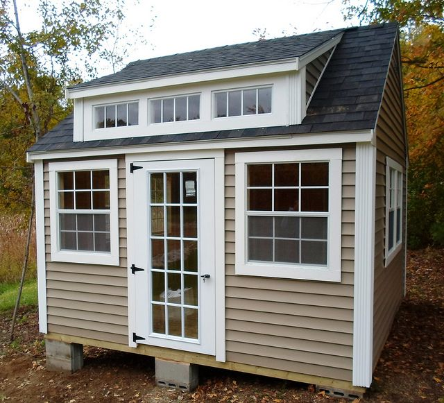 53 12x12 Lexington Colonial Vinyl Backyard Cottage Backyard Office Small Garden Office