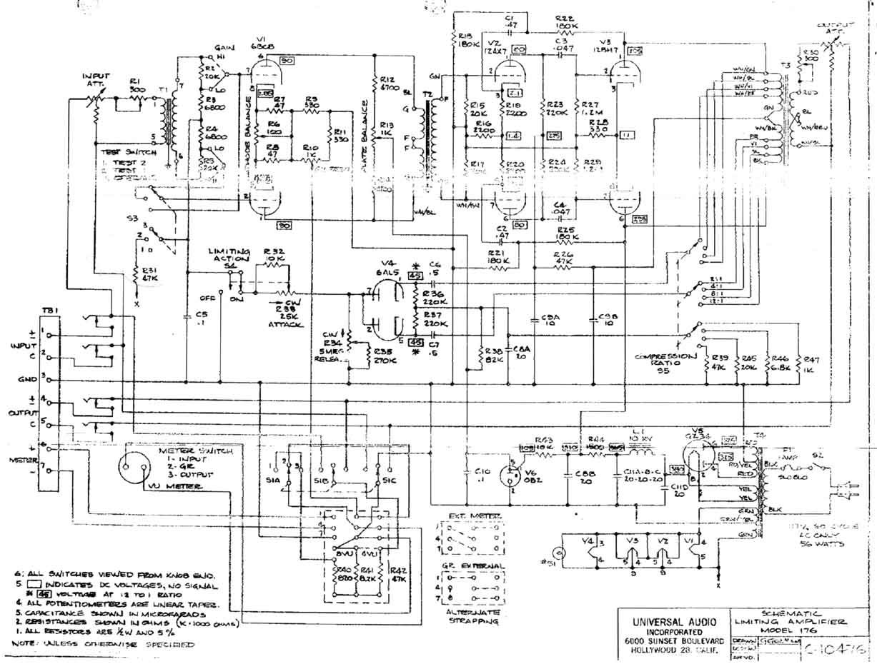 universal audio 176 schematic