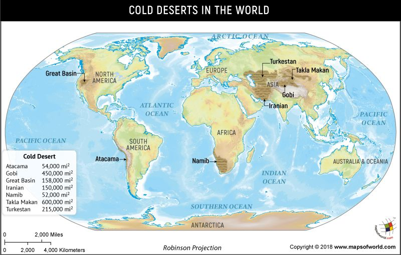 What are the cold deserts of the world | Geography | Cold ...