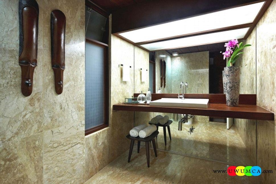 Bathroom:Decorating Modern Summer Bathroom Decor Style Tropical Bath ...