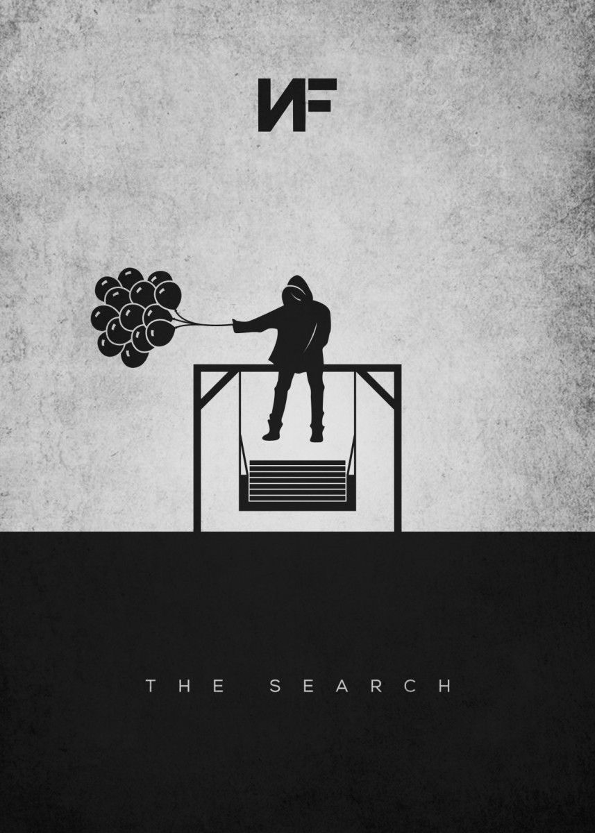 Minimalist NF The Search Pop Art Poster Print | metal posters - Displate | Displate thumbnail
