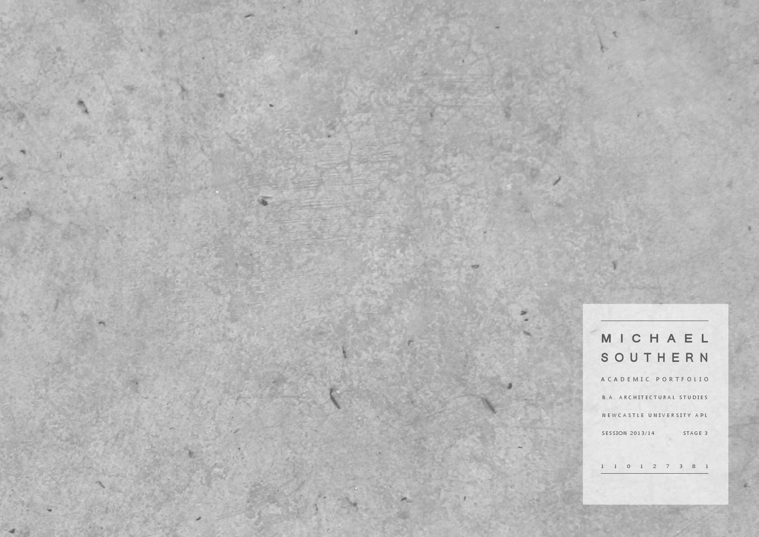 Michael Southern // Undergraduate Architecture Portfolio