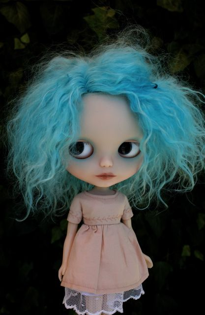 Nimue with new mohair.