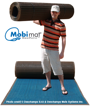 Mobi Mat Portable Rollout Roadways Portable Wheelchair Wheelchair Ground Support Equipment