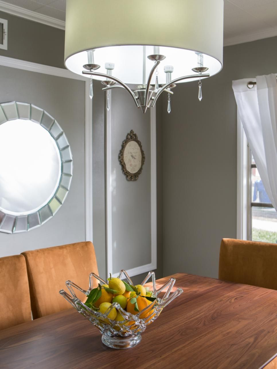 Contemporary Chandeliers For Dining Room Inspiration Gray Dining Room With Contemporary Chandelier  Decor  Pinterest Design Ideas