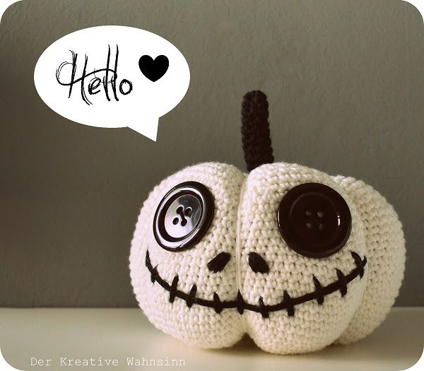 Photo of Last year I crocheted some pumpkins … just for myself …