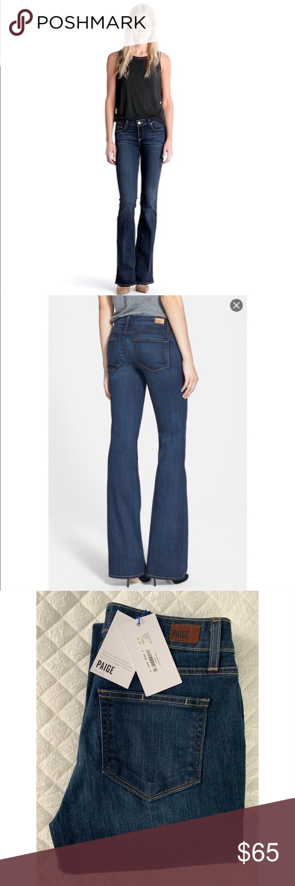 """d7814300e53 NWT $169 Paige Skyline Bootcut Jeans Paige Skyline Bootcut Jeans in """"Sonya""""  wash."""