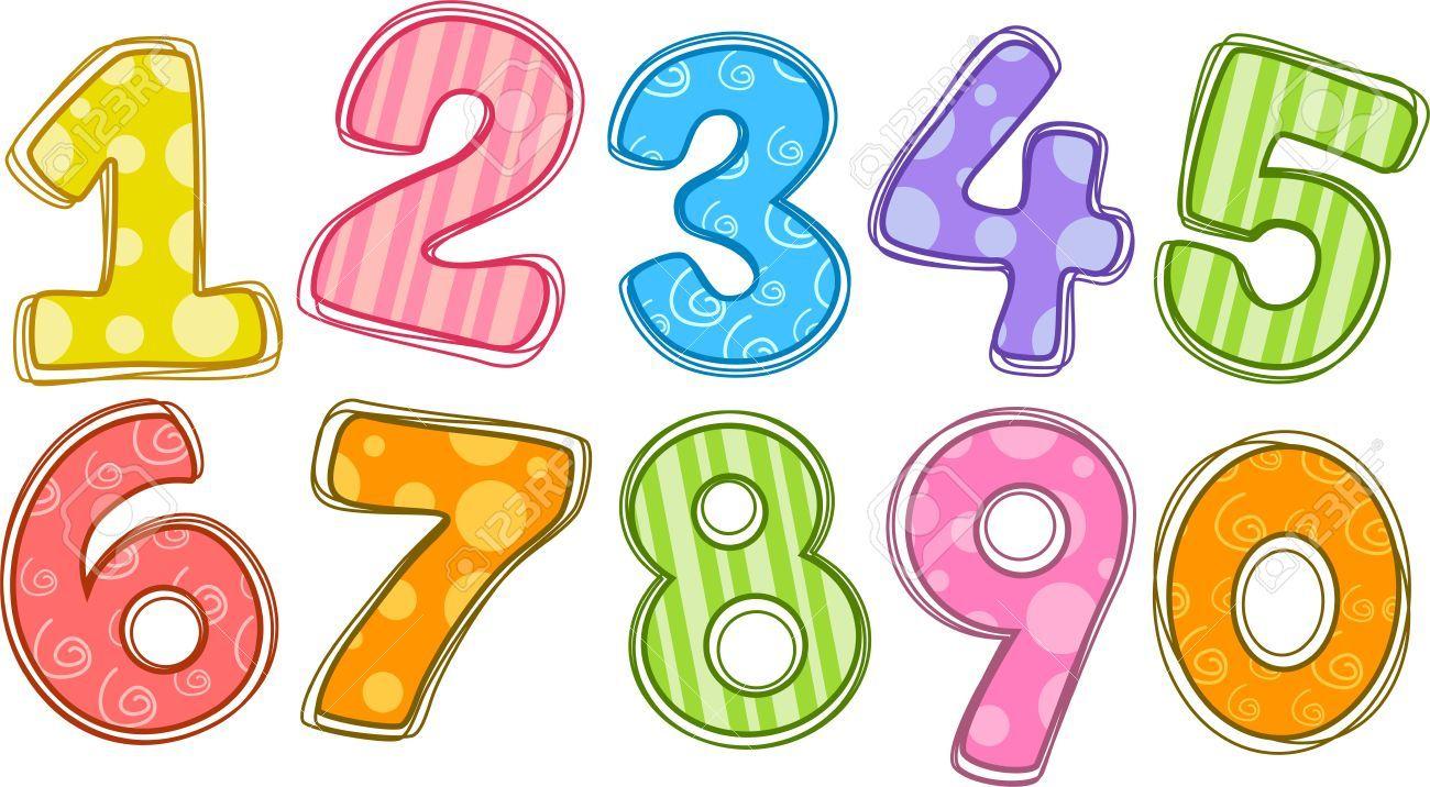 Numbers Clipart Clip Art Dibujos Para Preescolar Aprendizaje De Los Numeros Numero Para Imprimir