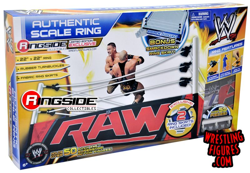 Wwe Authentic Scale Wrestling Ring W Raw Smackdown Ring Skirts Ringside Collectibles Action Figures Wwe Action Figures Wwe Figures