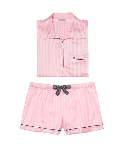 2efaf19836c9e Afterhours Satin Boxer PJ   Victoria Secret in 2019   Silk pajamas ...