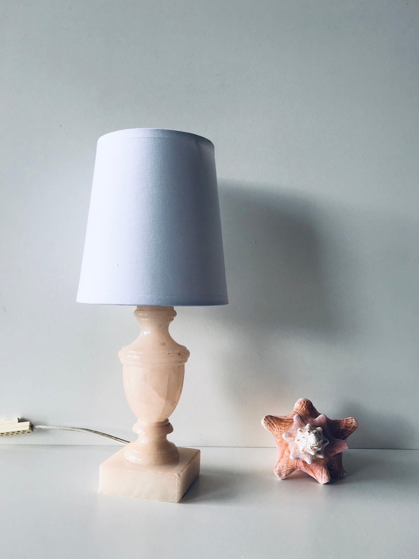Lampe en Albâtre rose en 2020 | Lamp, Albatre, Tissu blanc