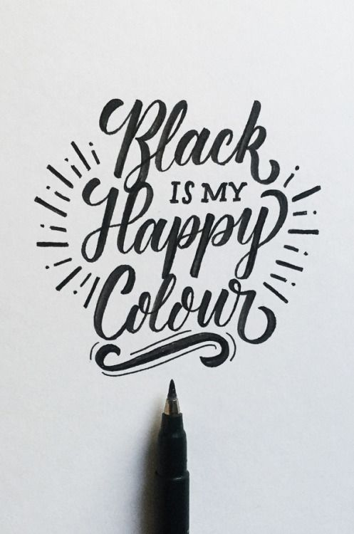 Lettering By Colin TierneyMedium Used Tombow Fudenosuke Brush