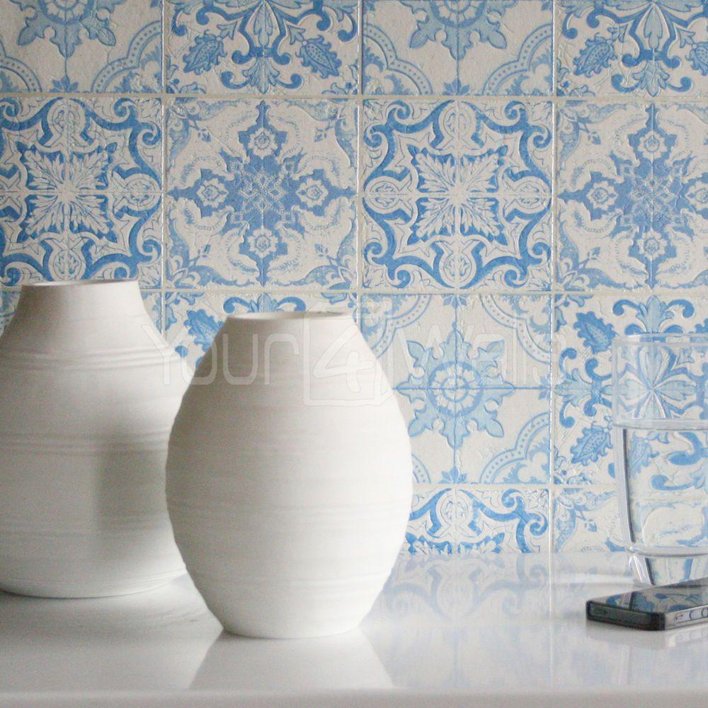 Fliesen Mit Tapete überkleben details zu marokkanische kachel schöne geometrisch fliesen effekt