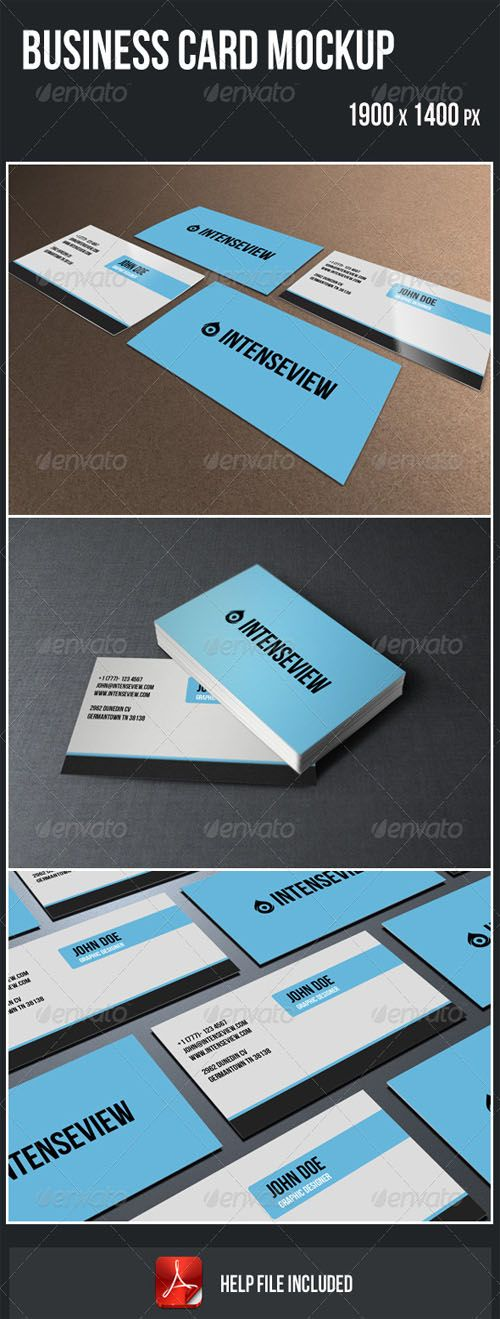 GraphicRiver - Business Card Mockup | Interests~ Commercial Art ...