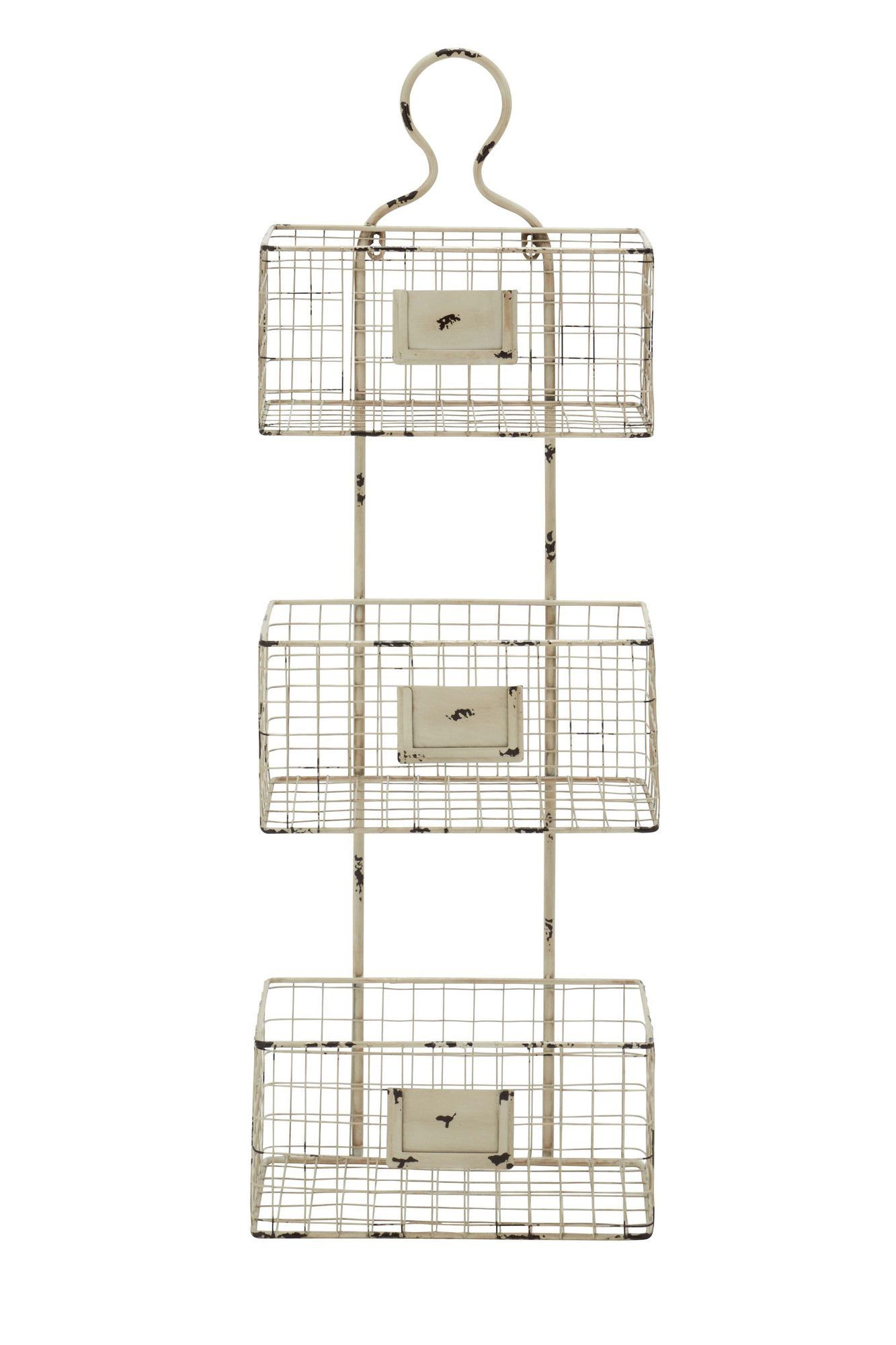 Lark Manor 3 Tier Wire Basket Wall Shelf Wire Basket Shelves Basket Shelves Baskets On Wall