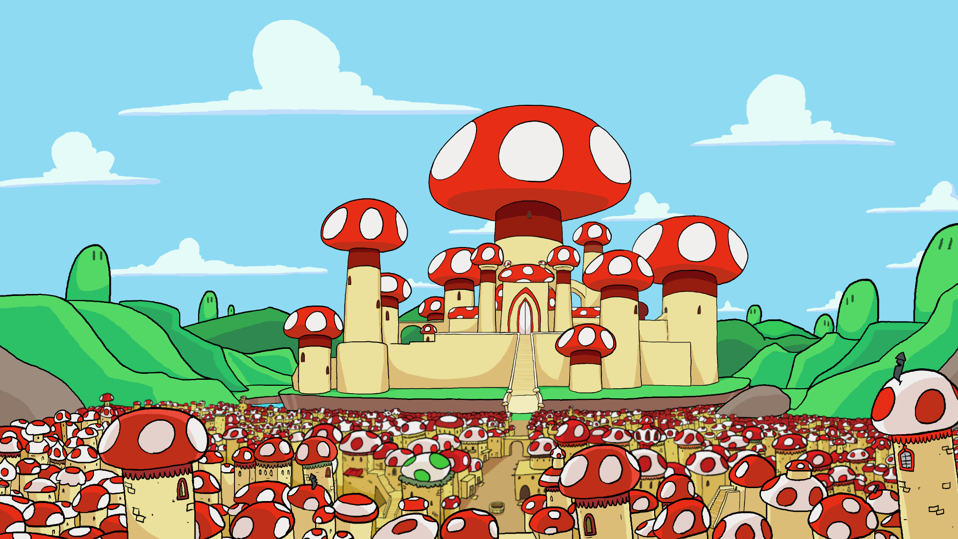 Mushroom Kingdom Peaceful By Terminalmontage On Deviantart