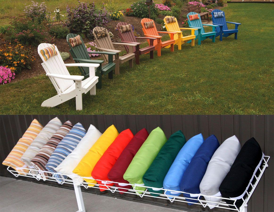 Adirondack Chair Head Pillows